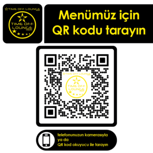 Masa QR Etiketi-65x65 Time Off Lounge 240 Adet