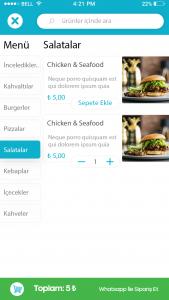 restoran sipariş