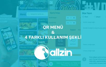 allzin QR Menü Ve 4 Farklı Kullanım Şekli